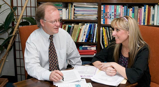 Graduate students work closely with faculty