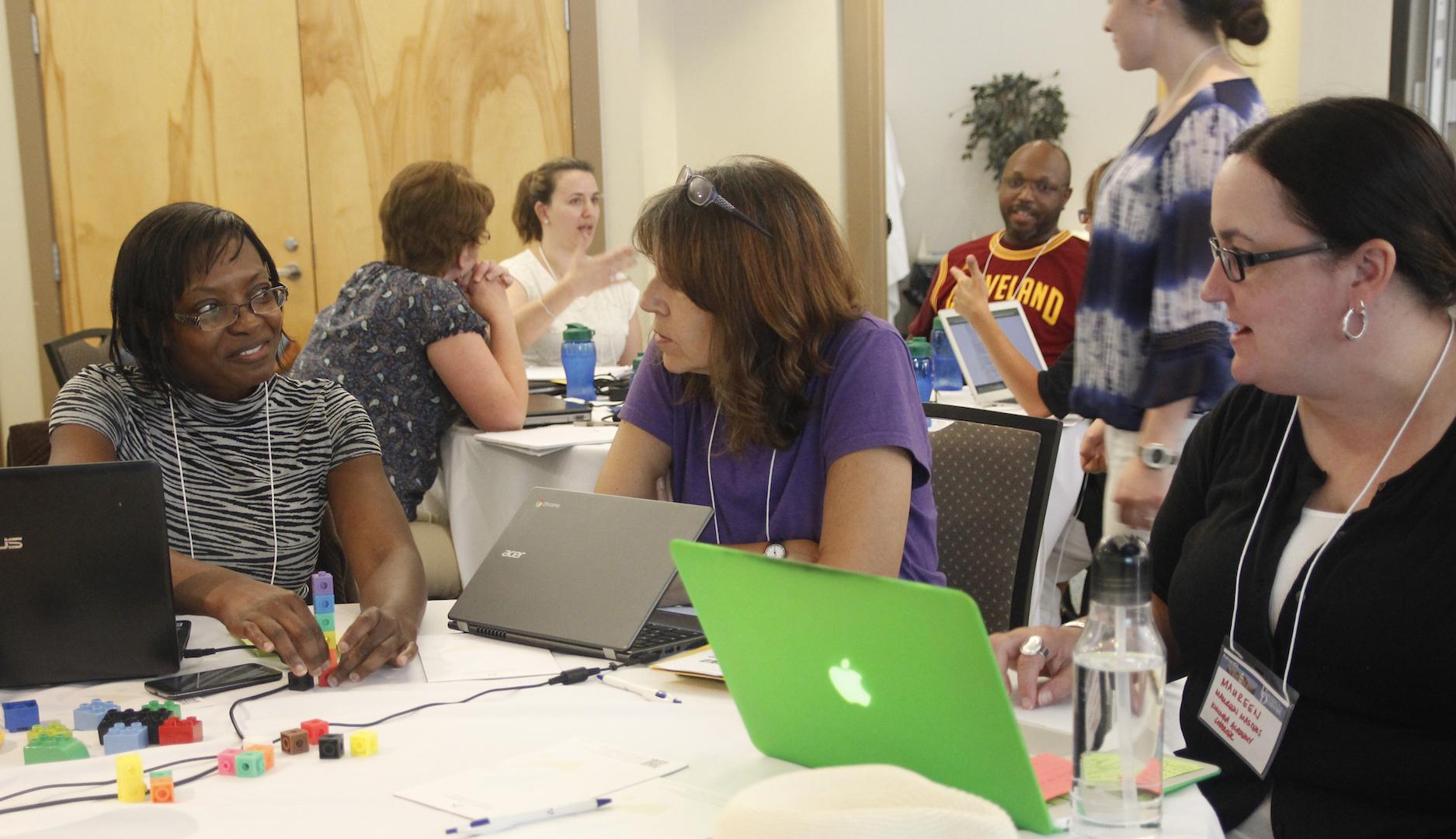 Delaware school educators at the summer 2016  P4CS professional development workshop at Lewes, DE