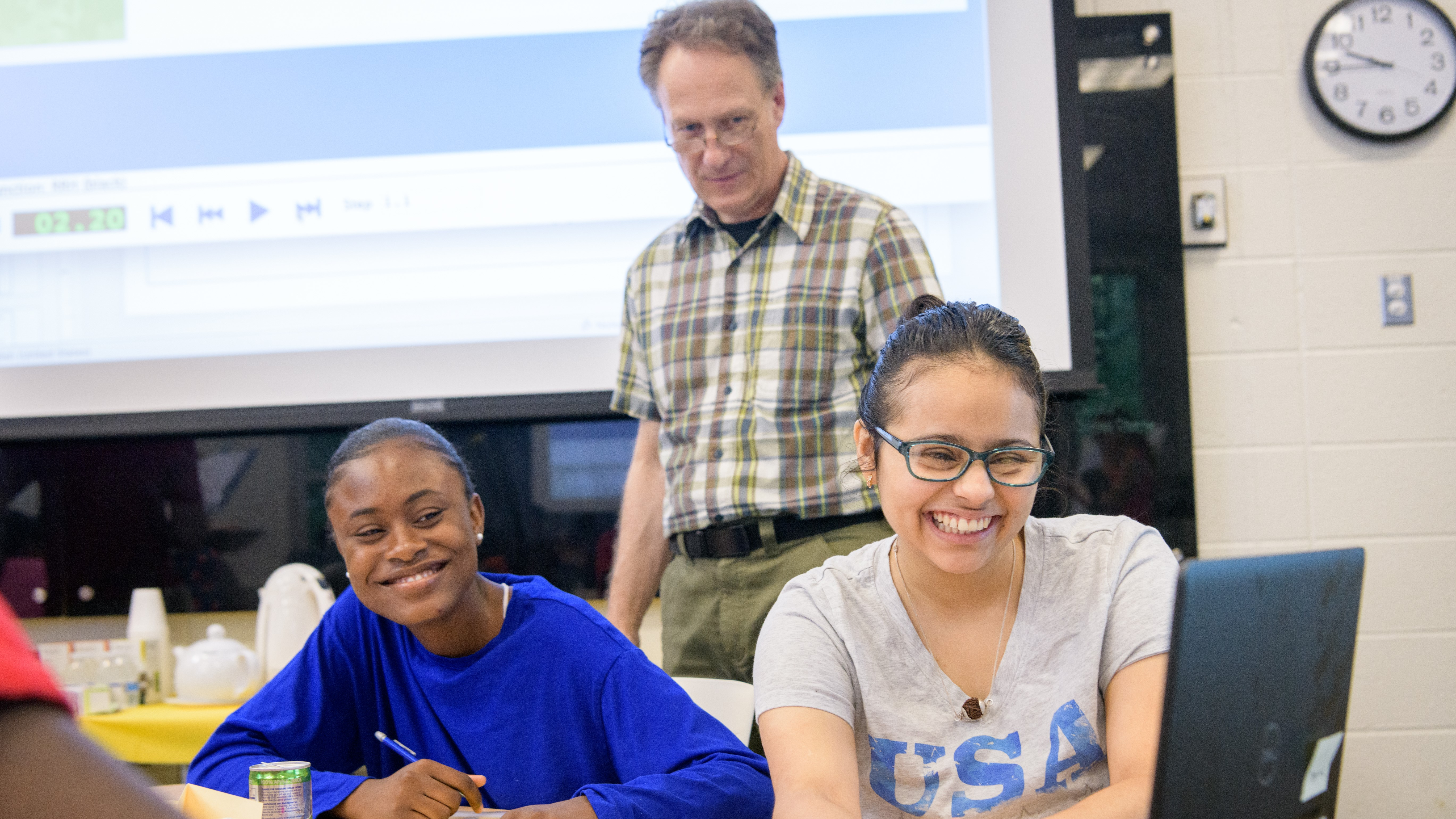 Associate Professor Charles Hohensee, a joint faculty in the School of Education and Mathematics Education Research, is running a summer math program at UD for 15-20 local high school students as part of a $750,000 NSF grant. Photographed for a story in UDaily and to promote his research.