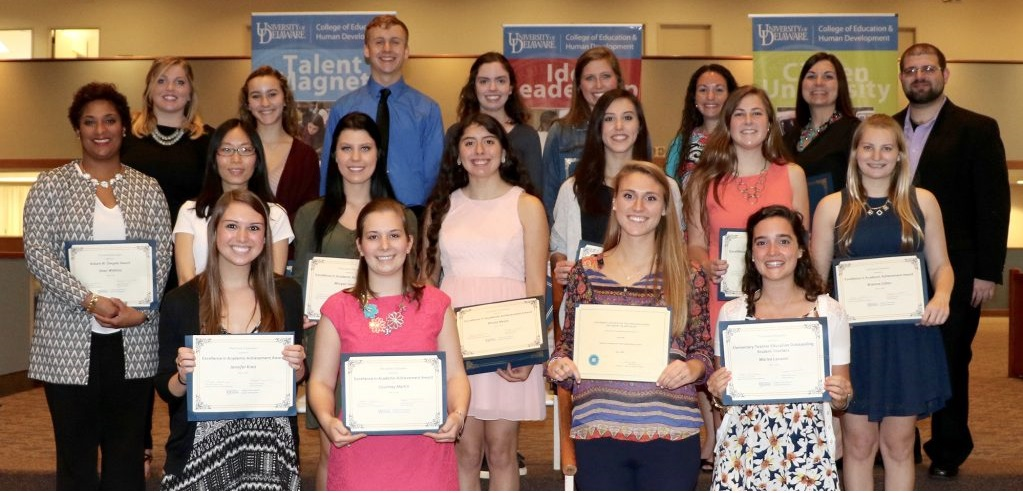 School of Education award recipients at the College of Education and Human Development 2016 Celebration of Excellence.