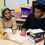 TESL grad students Harpreet and Brandon