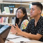 Iris Perez-Mazariegos (left) and Johnny Perez-Gonzalez are both Blue Hen Community Engagement Fellows who are gathering stories this summer from members of the Latinx community in Sussex County.