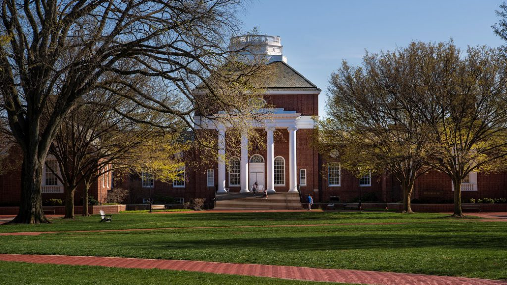 Memorial Hall and the Green on University of Delaware's campus